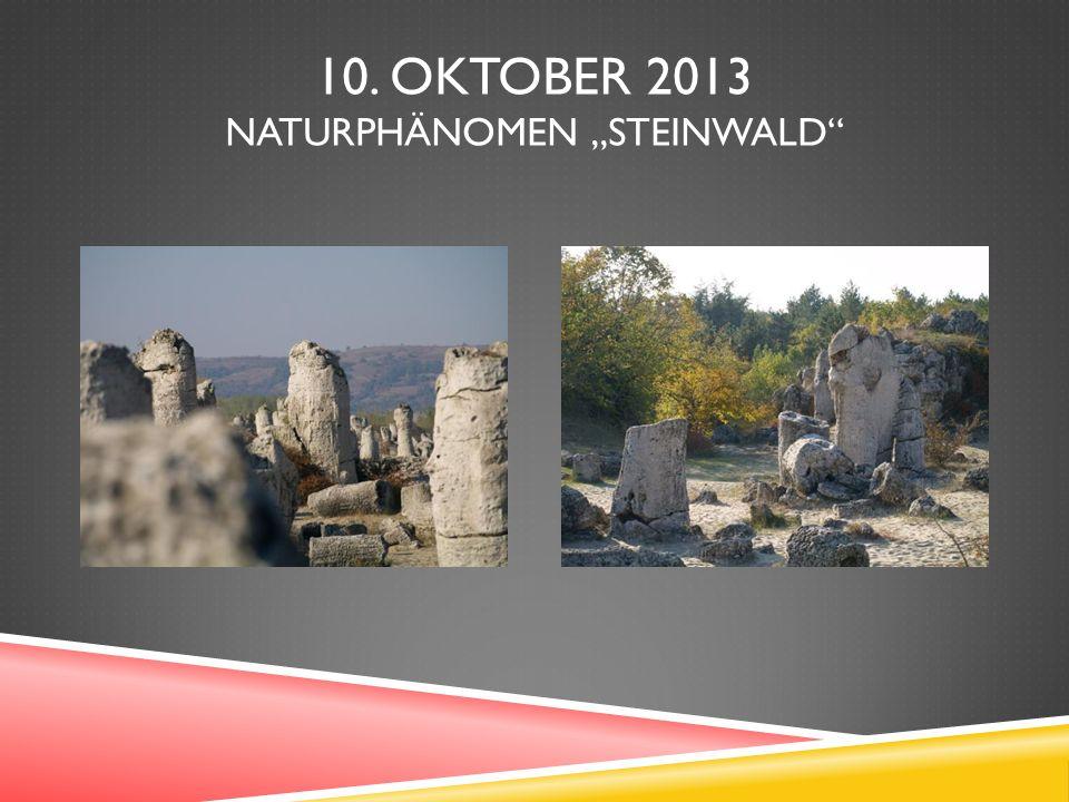 10. OKTOBER 2013 NATURPHÄNOMEN STEINWALD