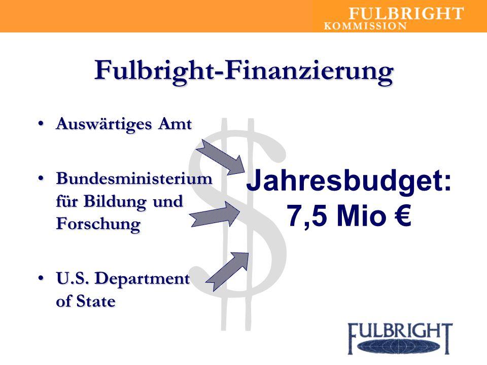 $ Fulbright-Finanzierung Auswärtiges AmtAuswärtiges Amt Bundesministerium für Bildung und ForschungBundesministerium für Bildung und Forschung U.S.