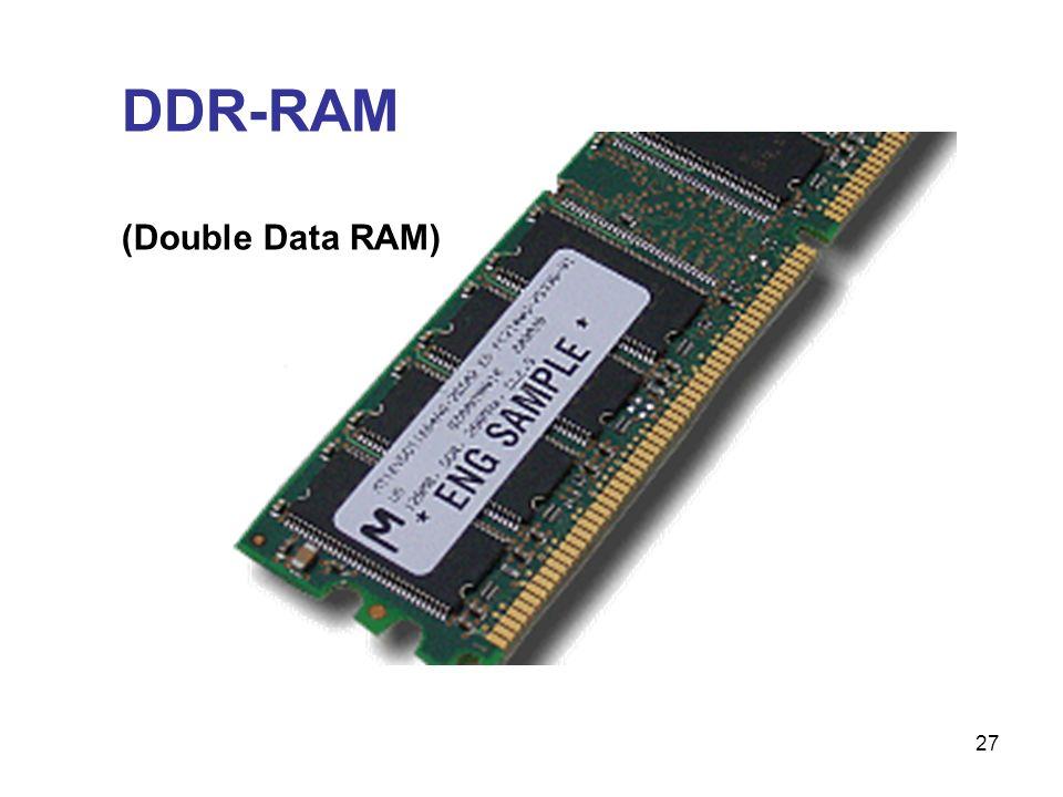 27 DDR-RAM (Double Data RAM)