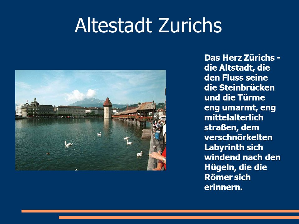 Altestadt Zurichs Das Herz Zürichs - die Altstadt, die den Fluss seine die Steinbrücken und die Türme eng umarmt, eng mittelalterlich straßen, dem ver