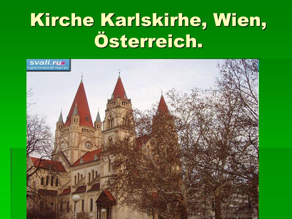 Kirche Karlskirhe, Wien, Österreich.