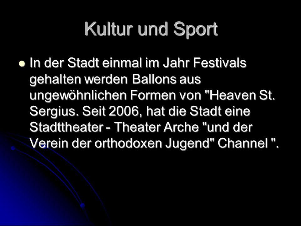 Kultur und Sport In der Stadt einmal im Jahr Festivals gehalten werden Ballons aus ungewöhnlichen Formen von