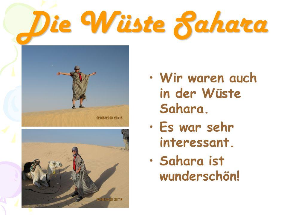 Die Wüste Sahara Wir waren auch in der Wüste Sahara.