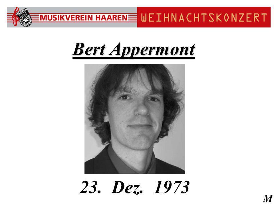 M Bert Appermont 23. Dez. 1973