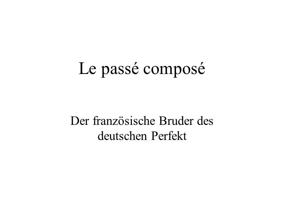 Le passé composé Der französische Bruder des deutschen Perfekt