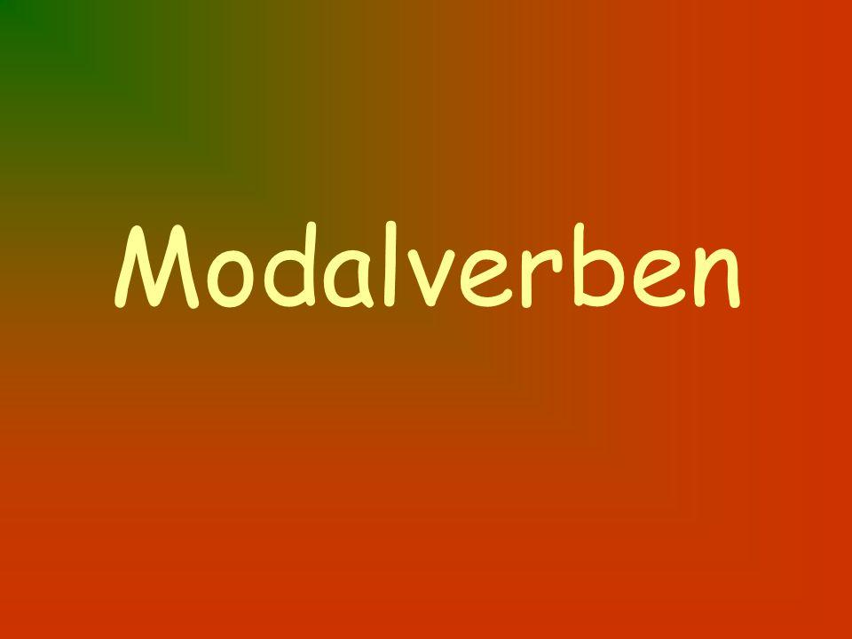 wollen sollen mögen möchten können dürfen werden müssen to want should to like would like can permitted to will must Regeln: 1.modal verb is conjugated 2.main verb to end in –en form Du siehst deinen Lehrer.