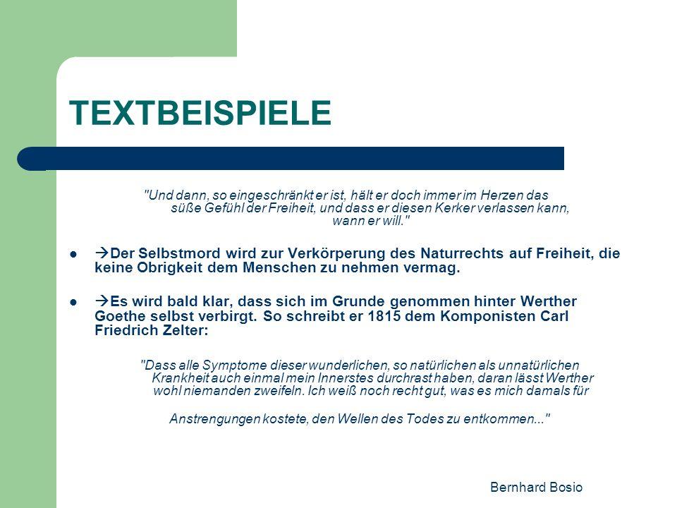Bernhard Bosio TEXTBEISPIELE