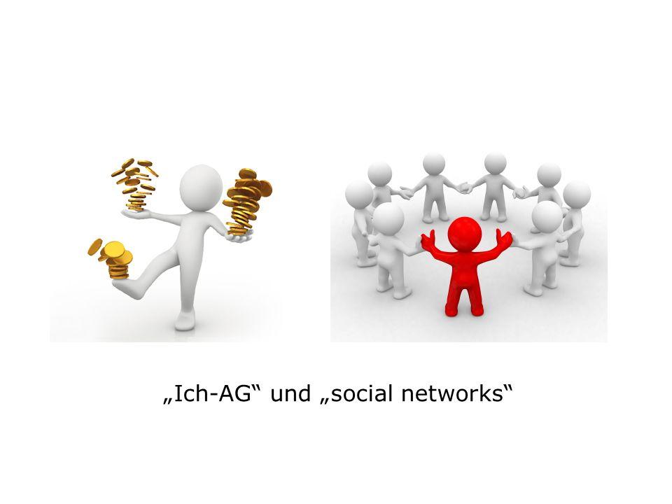 Ich-AG und social networks