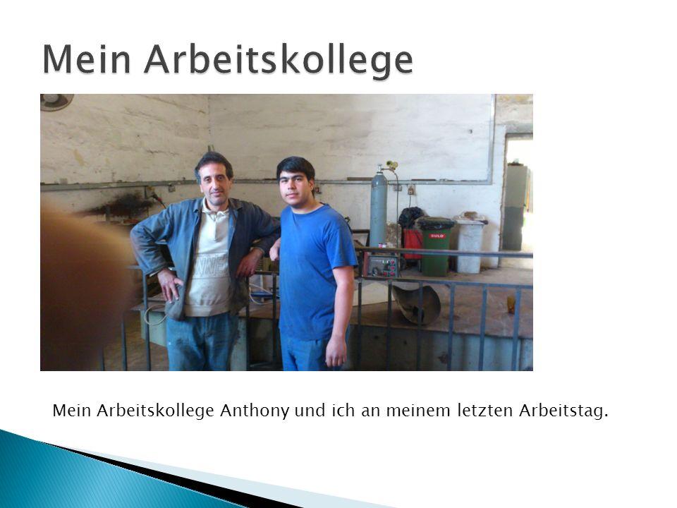 Mein Arbeitskollege Anthony und ich an meinem letzten Arbeitstag.