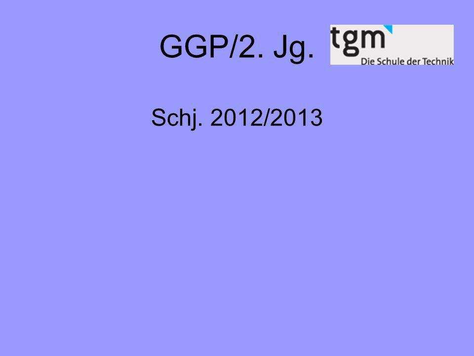 GGP/2. Jg. Schj. 2012/2013