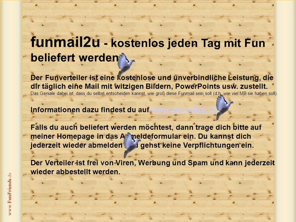 FunFriends www.FunFriends.de KikiSoundsLongfield Ich hoffe, deine Arbeit bereitet dir Freude und du brauchst diese Methoden nicht anzuwenden.