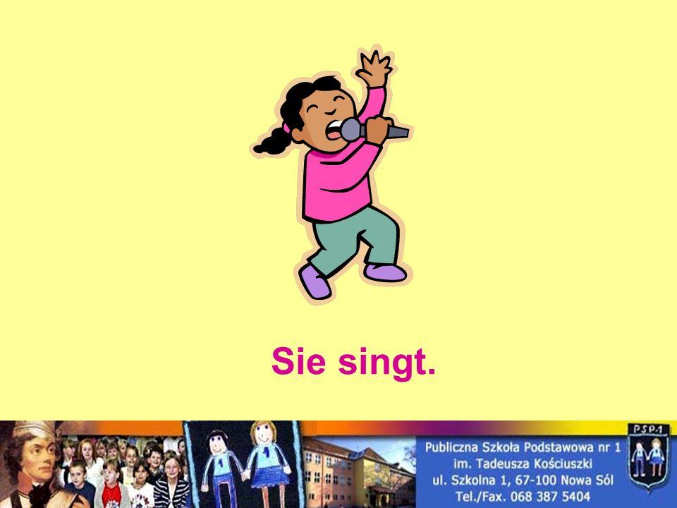 Sie singt.