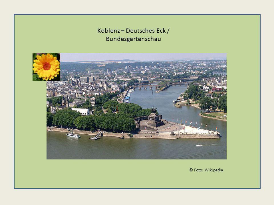 © Foto: Wikipedia Koblenz – Deutsches Eck / Bundesgartenschau