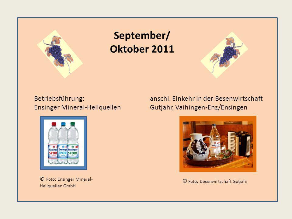 September/ Oktober 2011 anschl.