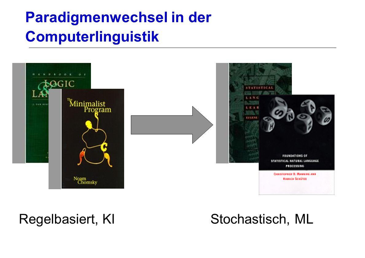 Paradigmenwechsel in der Computerlinguistik Regelbasiert, KIStochastisch, ML
