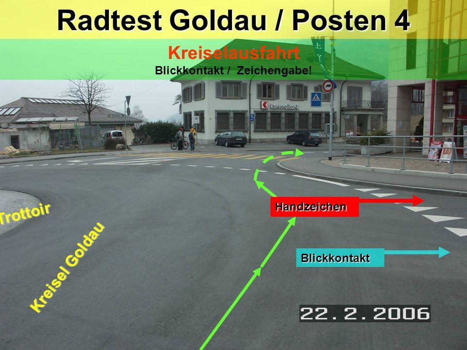 McDonald's Bahnhofstrasse Parkstrasse Posten 3: Kreisel / Bahnhofstrasse Posten 3: Kreisel / Bahnhofstrasse Verhalten im Kreisel Blickkontakt Handzeic