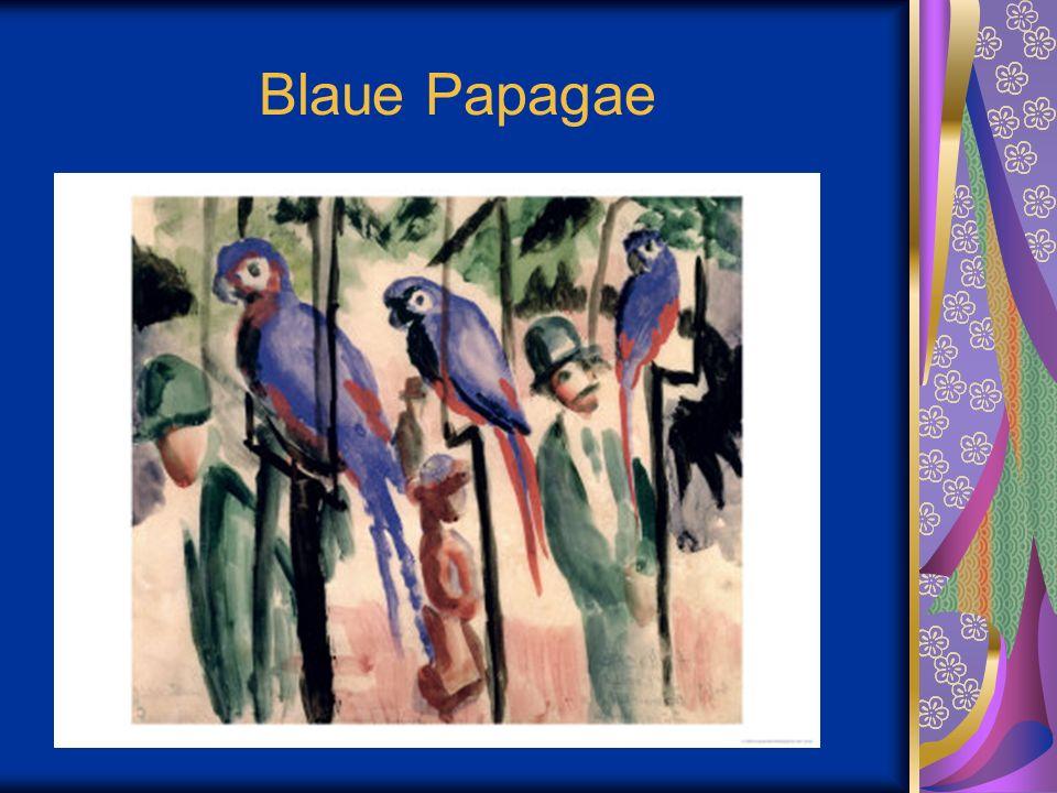 Blaue Papagae