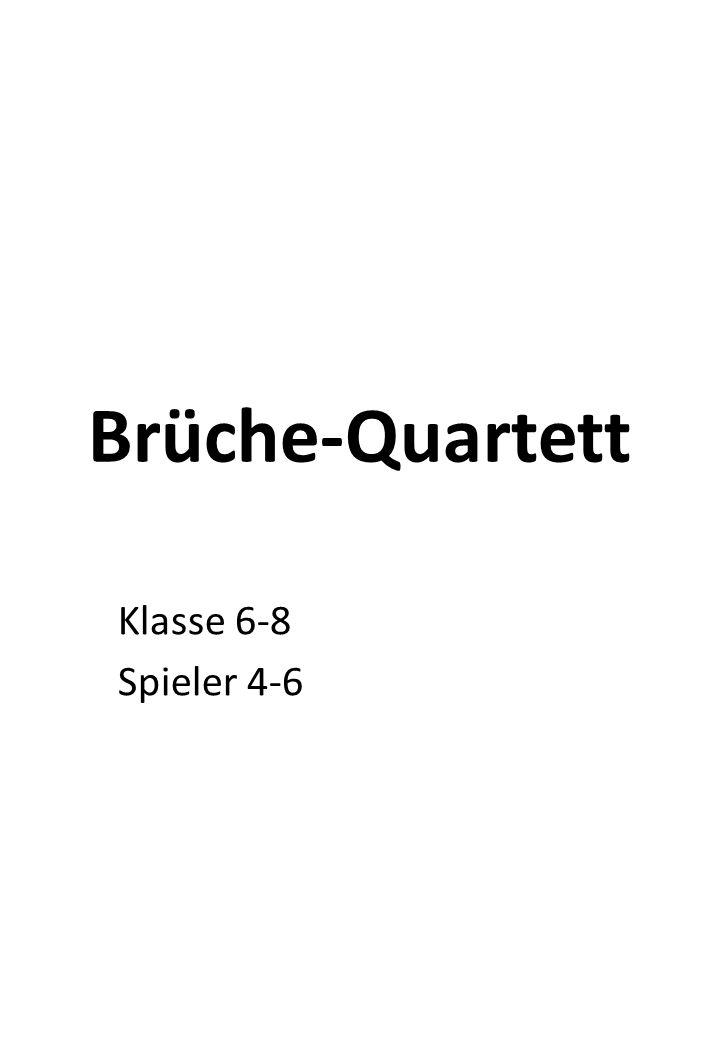 Brüche-Quartett Klasse 6-8 Spieler 4-6
