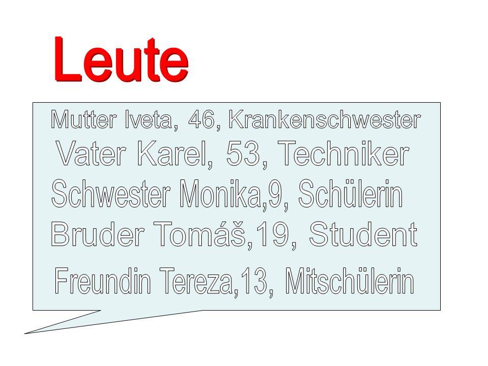 Mathe, Tschechisch, Deutsch, Englisch, Russisch,Biologie, Geschichte,Geographie, Physik, Sport,Kunst, Musik…..