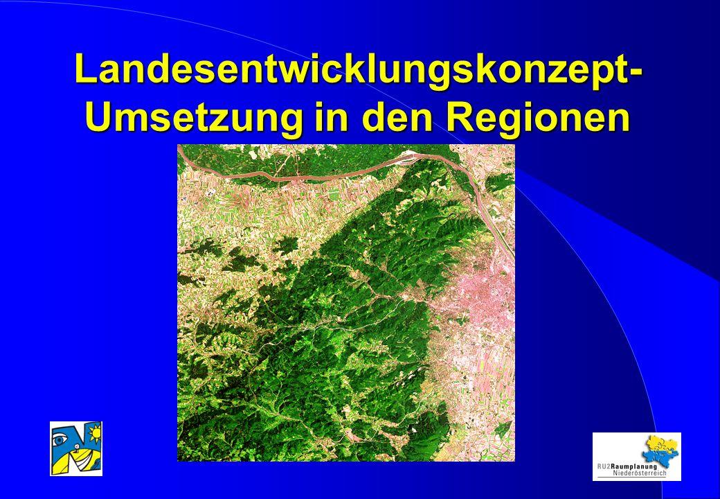 Landesentwicklungskonzept- Umsetzung in den Regionen