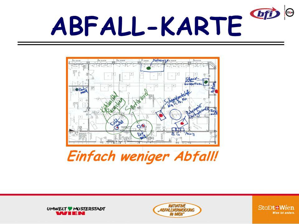 ABFALL-KARTE Einfach weniger Abfall!