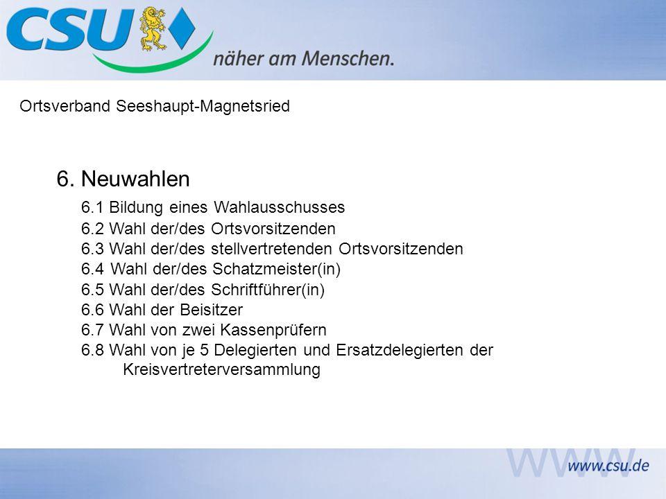 Ortsverband Seeshaupt-Magnetsried 6.