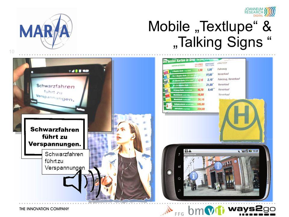 Schwarzfahren führt zu Verspannungen Mobile Textlupe & Talking Signs 10