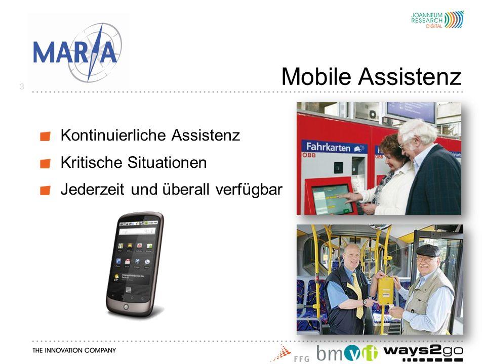 Mobile Assistenz Kontinuierliche Assistenz Kritische Situationen Jederzeit und überall verfügbar 3