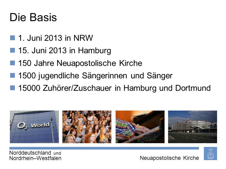 Seite 2 von X Neuapostolische Kirche International Thema | 20.01.2011 | Die Basis 1. Juni 2013 in NRW 15. Juni 2013 in Hamburg 150 Jahre Neuapostolisc