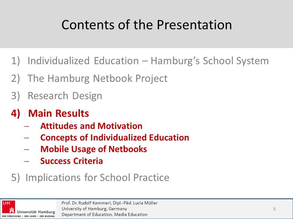 Prof. Dr. Rudolf Kammerl, Dipl.-Päd. Lucia Müller University of Hamburg, Germany Department of Education, Media Education Contents of the Presentation