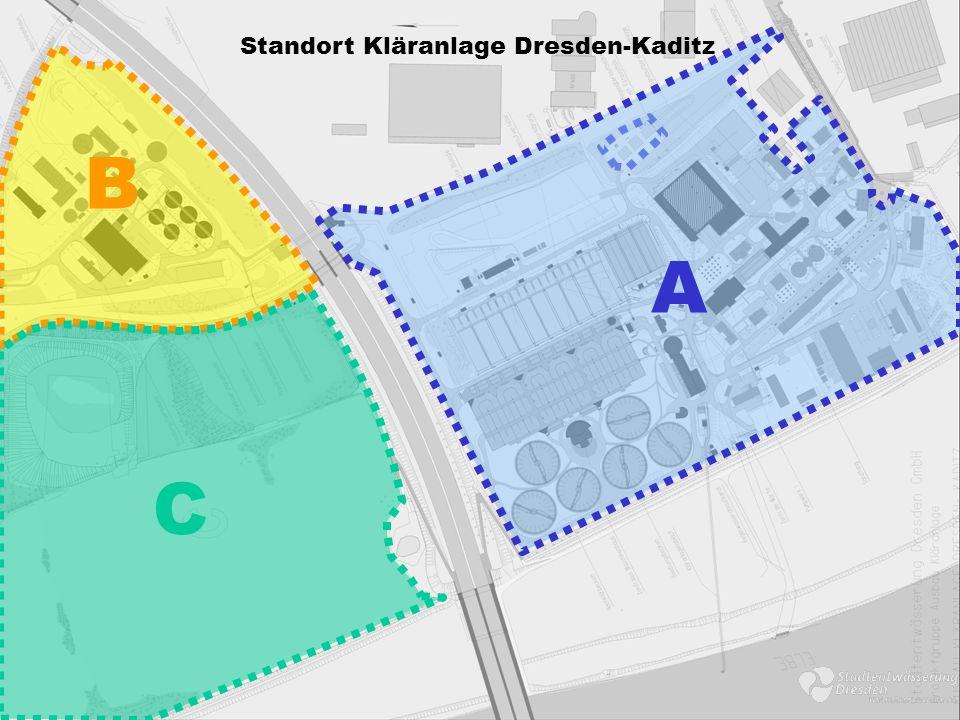 A B C Standort Kläranlage Dresden-Kaditz