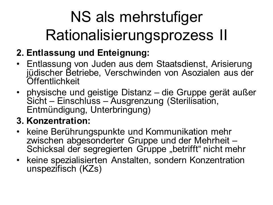 NS als mehrstufiger Rationalisierungsprozess II 2.