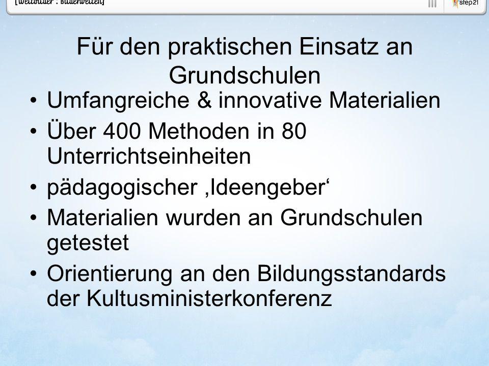 Für den praktischen Einsatz an Grundschulen Umfangreiche & innovative Materialien Über 400 Methoden in 80 Unterrichtseinheiten pädagogischer Ideengebe