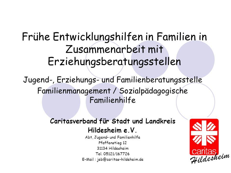 Frühe Entwicklungshilfen in Familien in Zusammenarbeit mit Erziehungsberatungsstellen Jugend-, Erziehungs- und Familienberatungsstelle Familienmanagem
