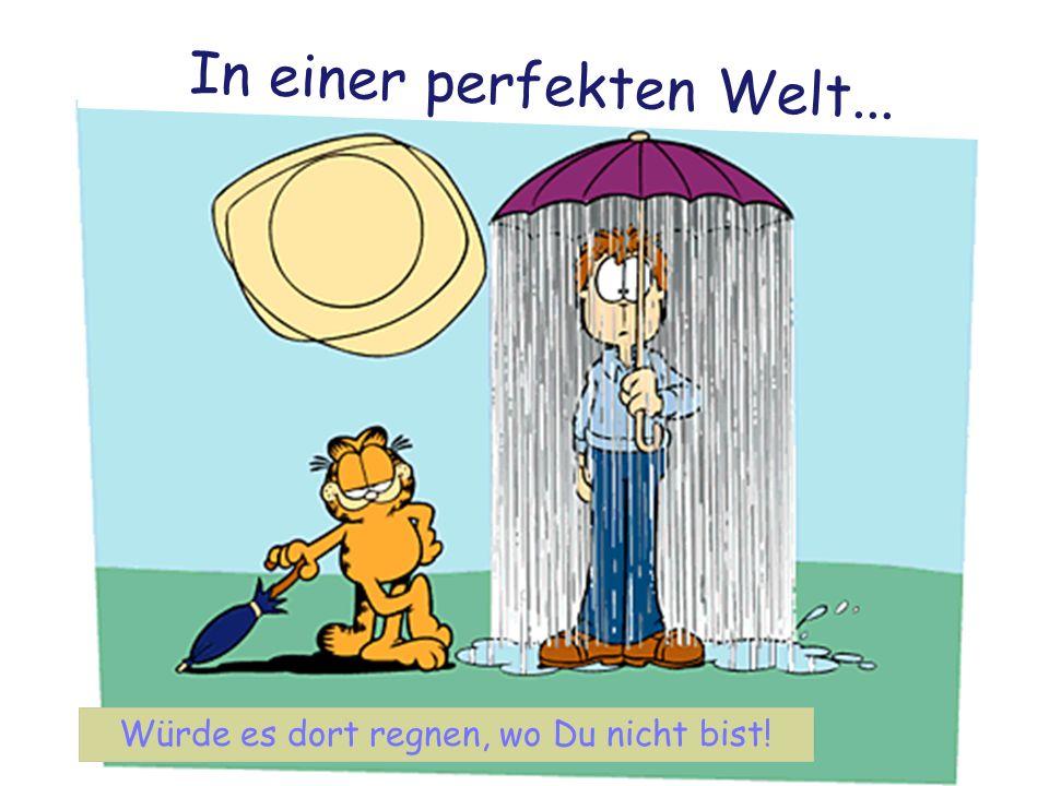 Würde es dort regnen, wo Du nicht bist! V p o p o l n e m s v e t u… In einer perfekten Welt...