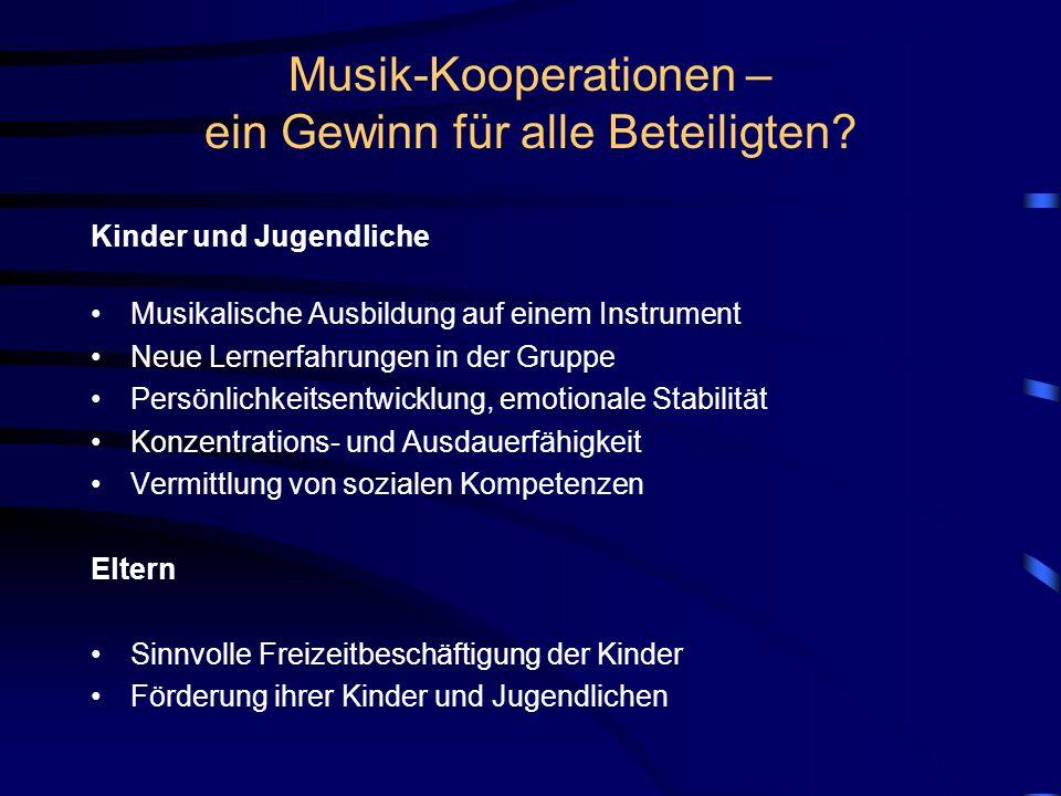 Musik-Kooperationen – ein Gewinn für alle Beteiligten.