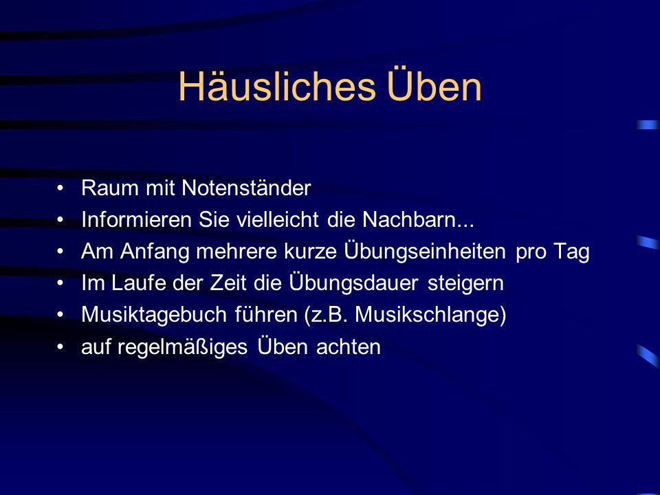 Instrumente in der Bläserklasse vorwiegend neue Markeninstrumente (Yamaha) bzw. neuwertige, generalüberholte Instrumente sperrige Instrumente (Tuba /