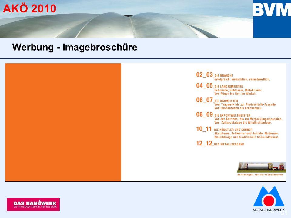 31 AKÖ 2010 Werbung - Imagebroschüre