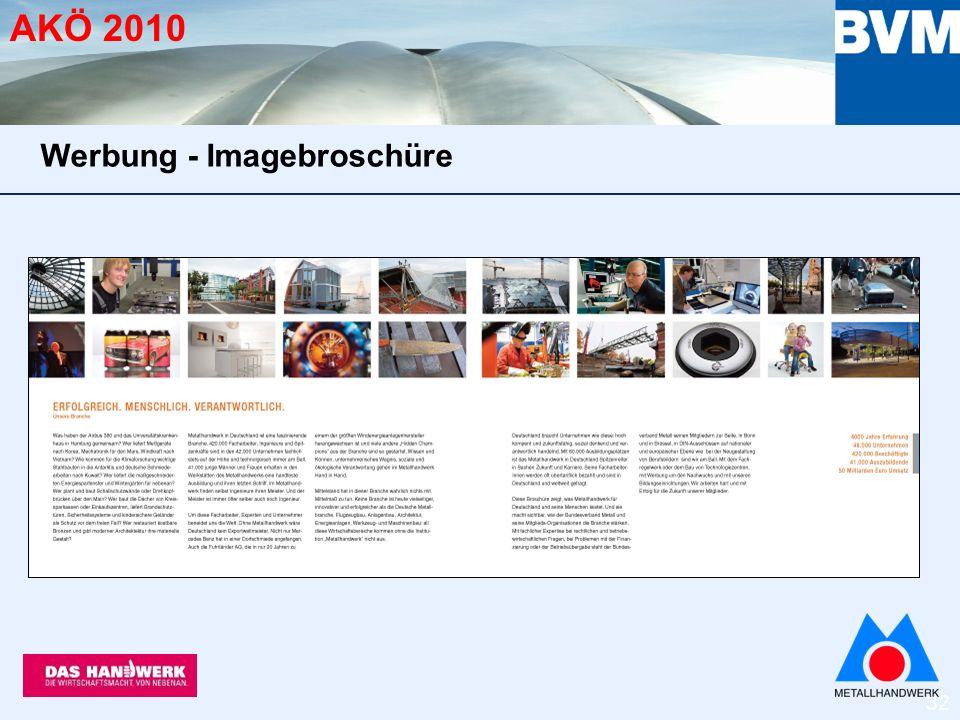 32 AKÖ 2010 Werbung - Imagebroschüre