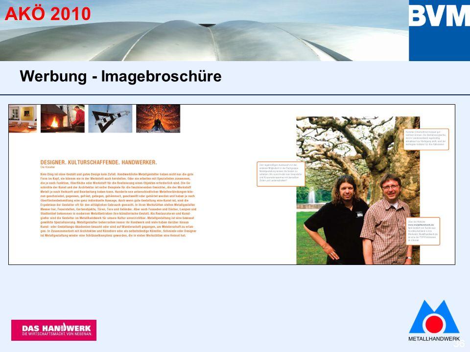 36 AKÖ 2010 Werbung - Imagebroschüre