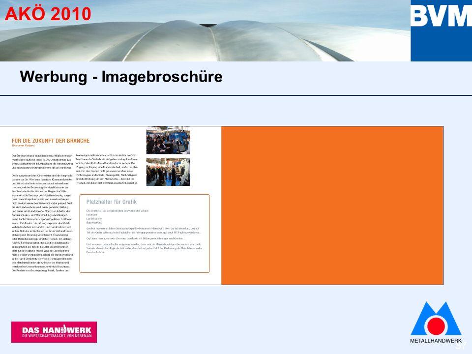 37 AKÖ 2010 Werbung - Imagebroschüre