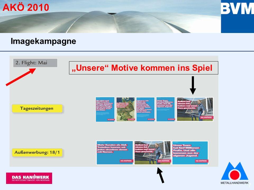 8 AKÖ 2010 Unsere Motive kommen ins Spiel Imagekampagne