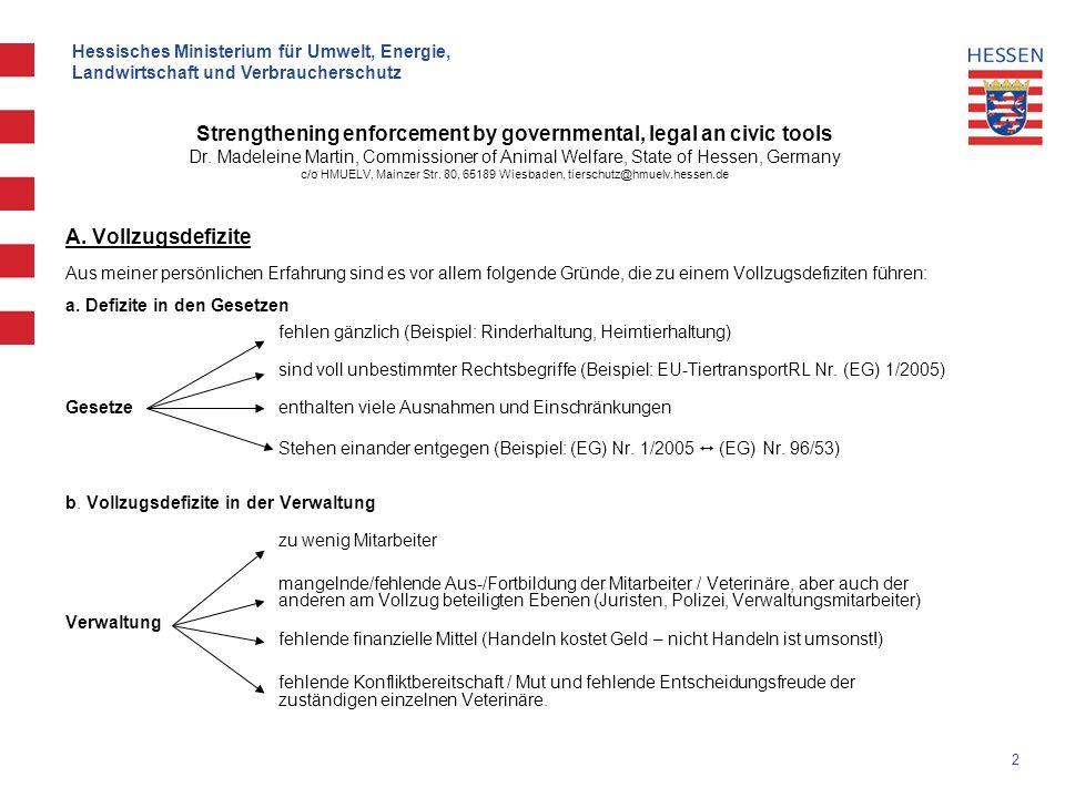2 Hessisches Ministerium für Umwelt, Energie, Landwirtschaft und Verbraucherschutz A.