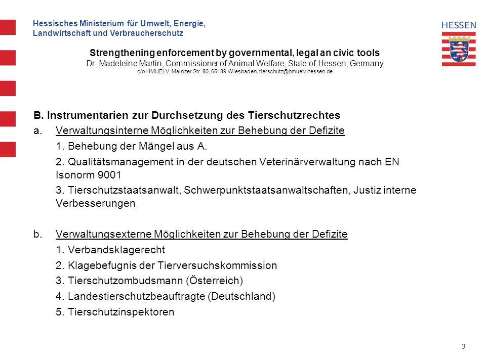 3 Hessisches Ministerium für Umwelt, Energie, Landwirtschaft und Verbraucherschutz Strengthening enforcement by governmental, legal an civic tools Dr.
