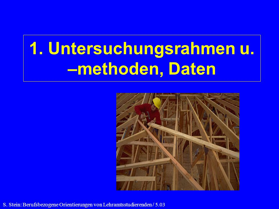 1.Untersuchungsrahmen u. –methoden, Daten S.
