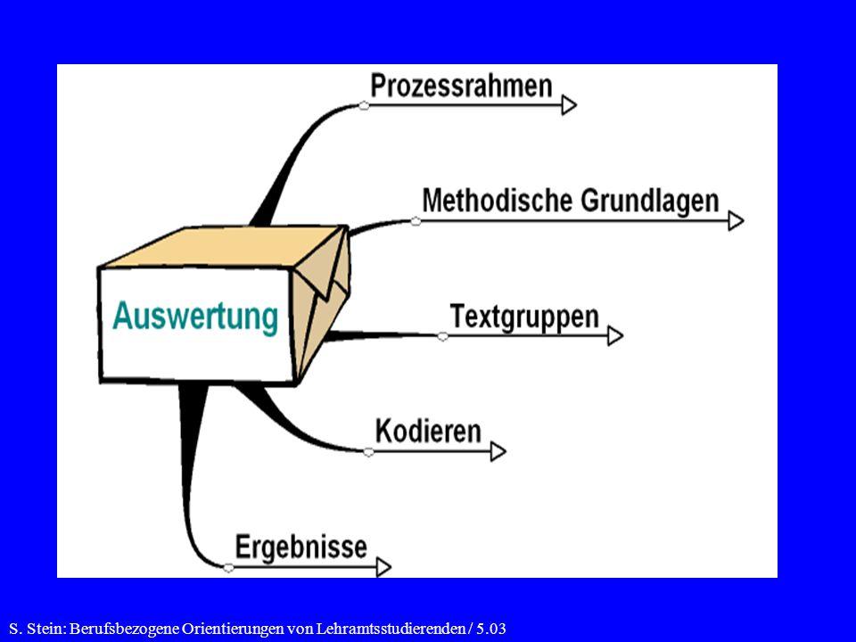 S. Stein: Berufsbezogene Orientierungen von Lehramtsstudierenden / 5.03
