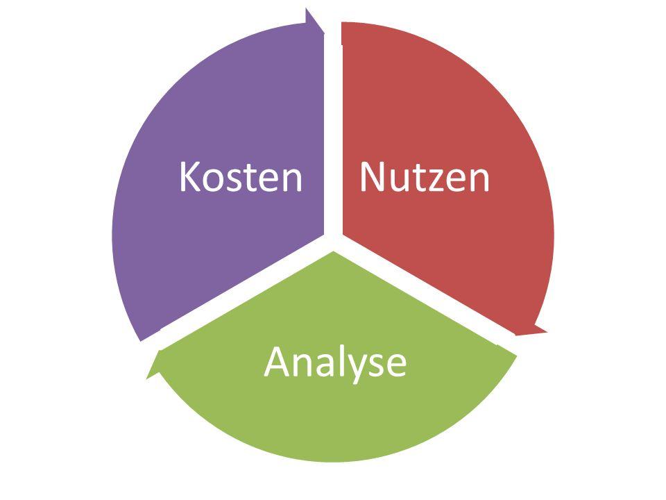 Nutzen Analyse Kosten