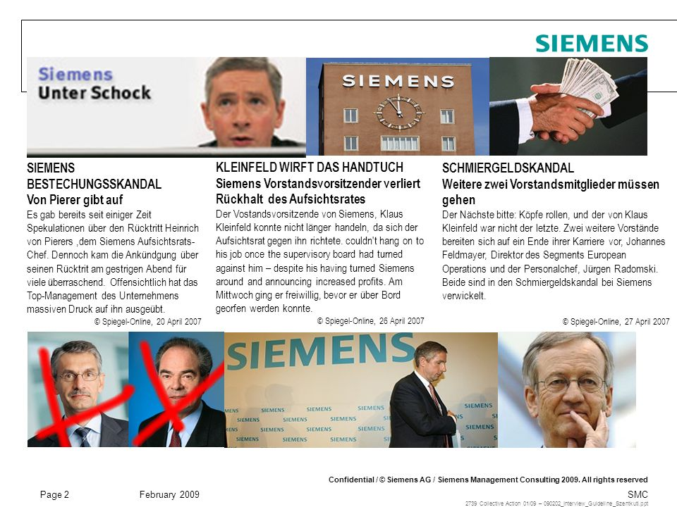 Page 3 February 2009 SMC Confidential / © Siemens AG / Siemens Management Consulting 2009.