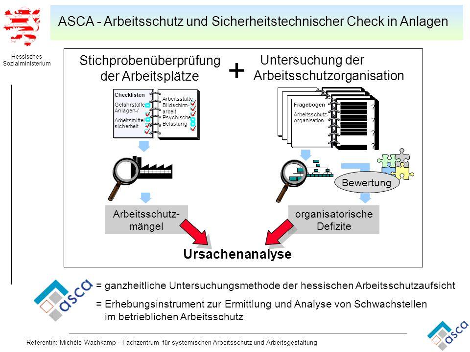 Hessisches Sozialministerium Referentin: Michèle Wachkamp - Fachzentrum für systemischen Arbeitsschutz und Arbeitsgestaltung organisatorische Defizite