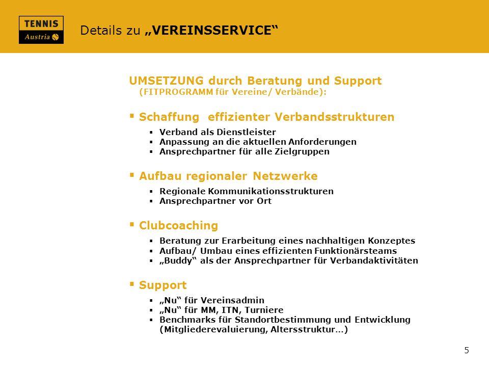 Details zu VEREINSSERVICE UMSETZUNG durch Beratung und Support (FITPROGRAMM für Vereine/ Verbände): Schaffung effizienter Verbandsstrukturen Verband a
